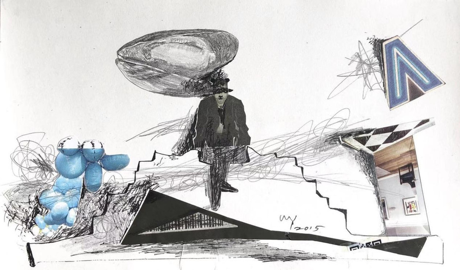 ESPOIR YANG The Magician 2015 Composite materials on paper 12.5 × 23 cm