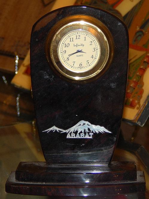 Armenian Mount Ararat Obsidian Clock