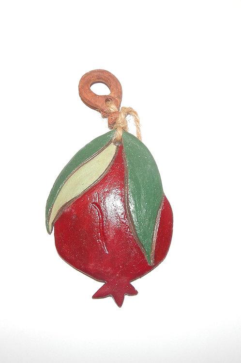 Ceramic Fruit Decor: Pomegranate