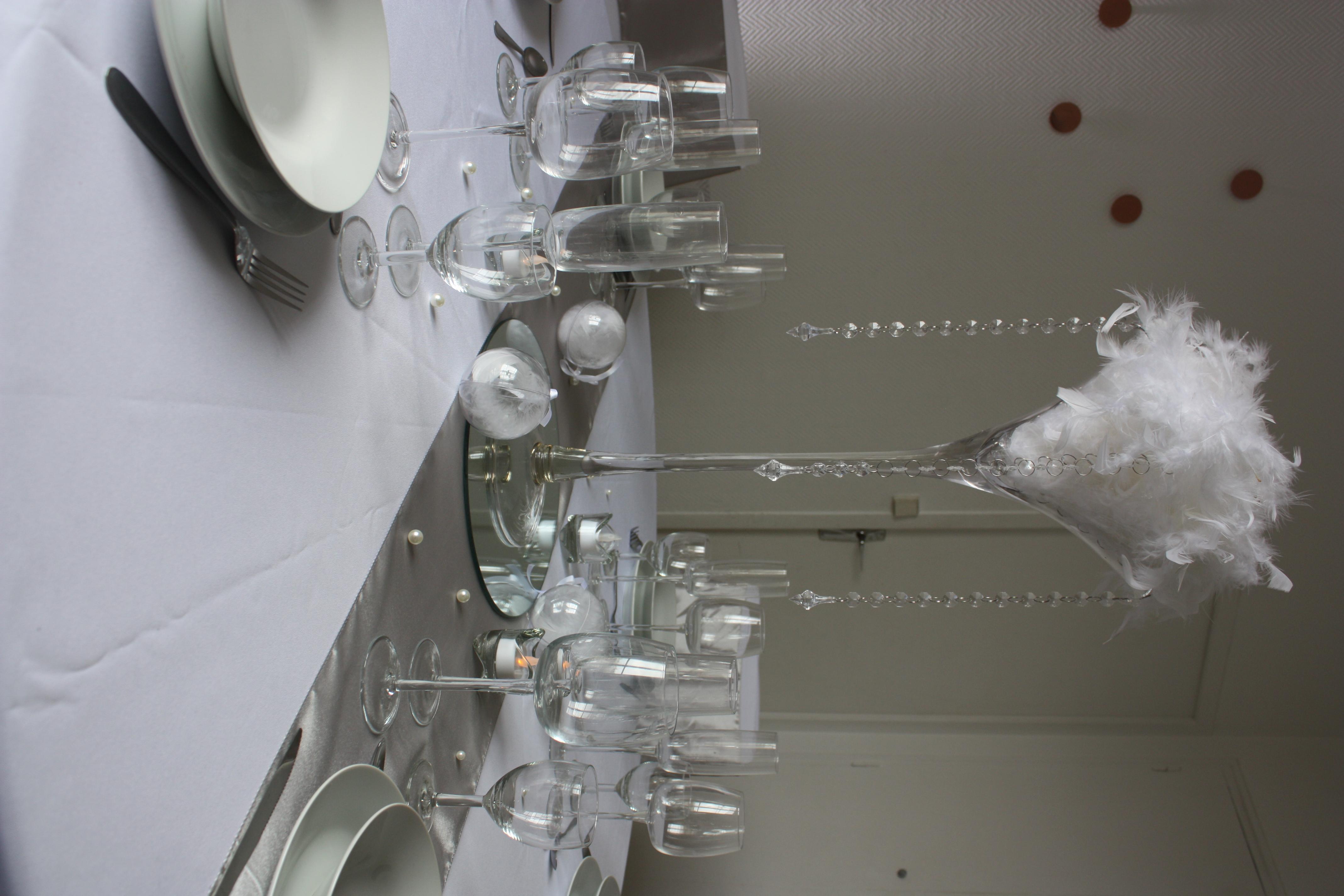 Vase Martini Plumes