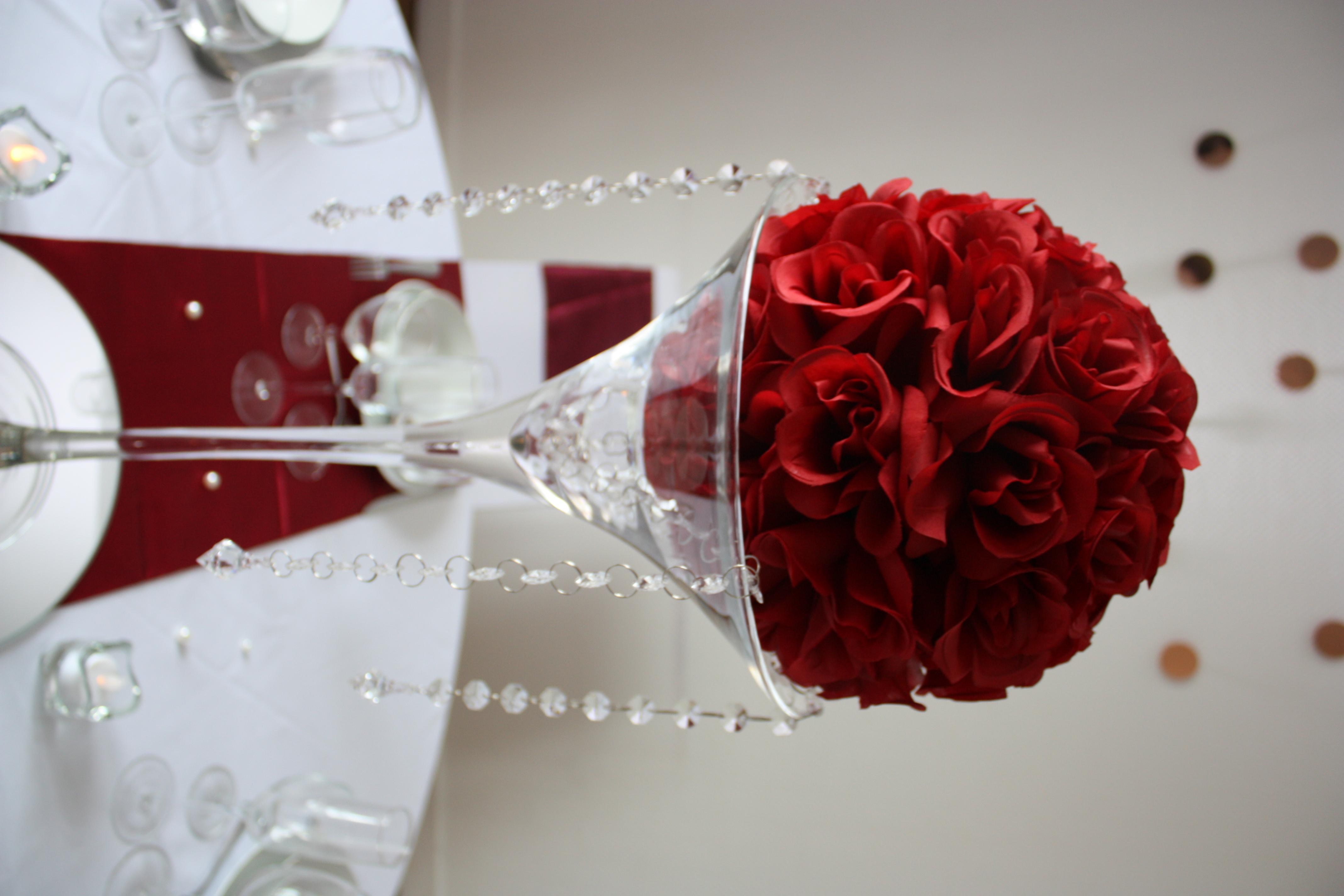Boule de rose Bordeaux