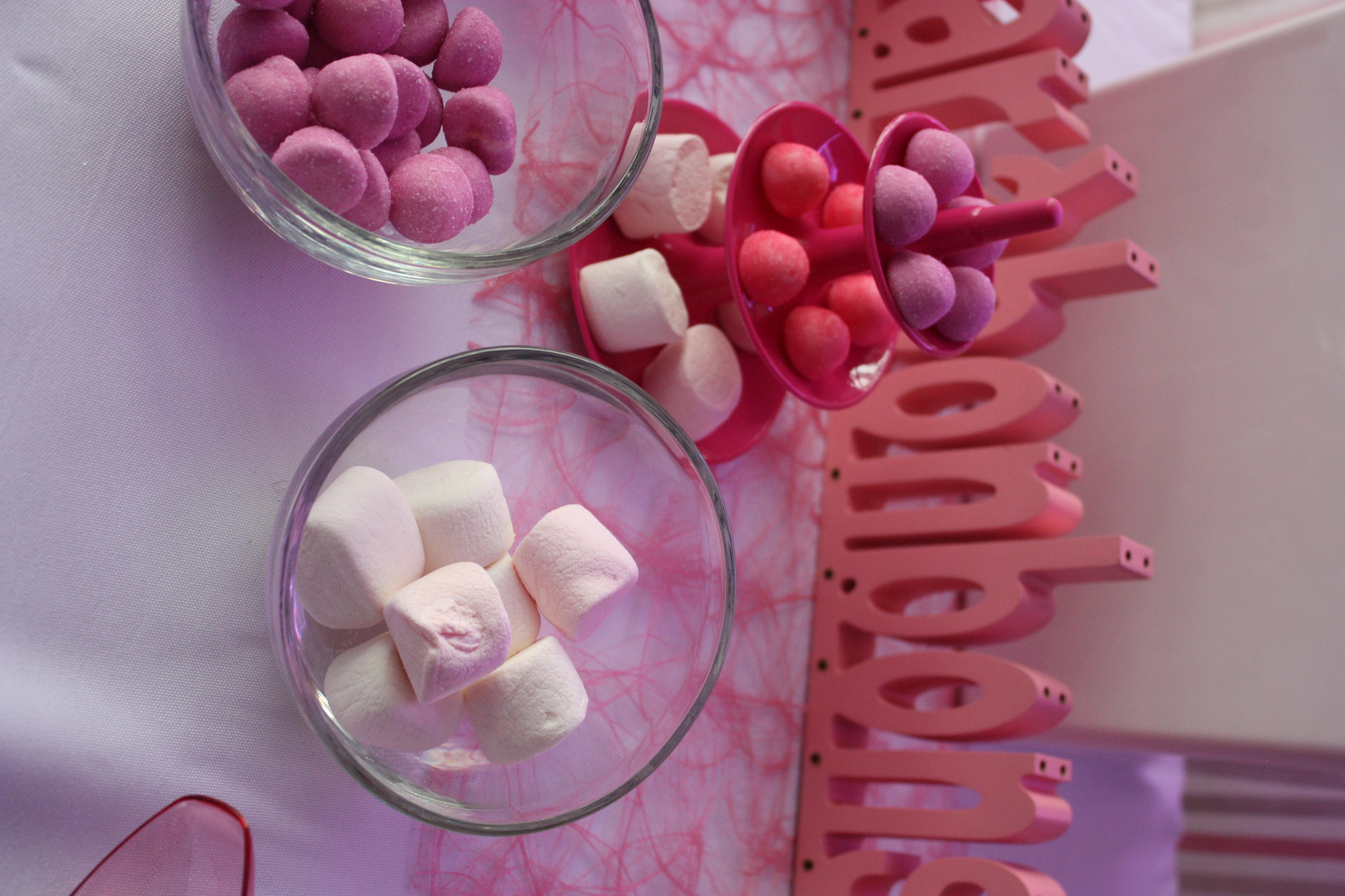 Écriteau Le Bar à Bonbons rose