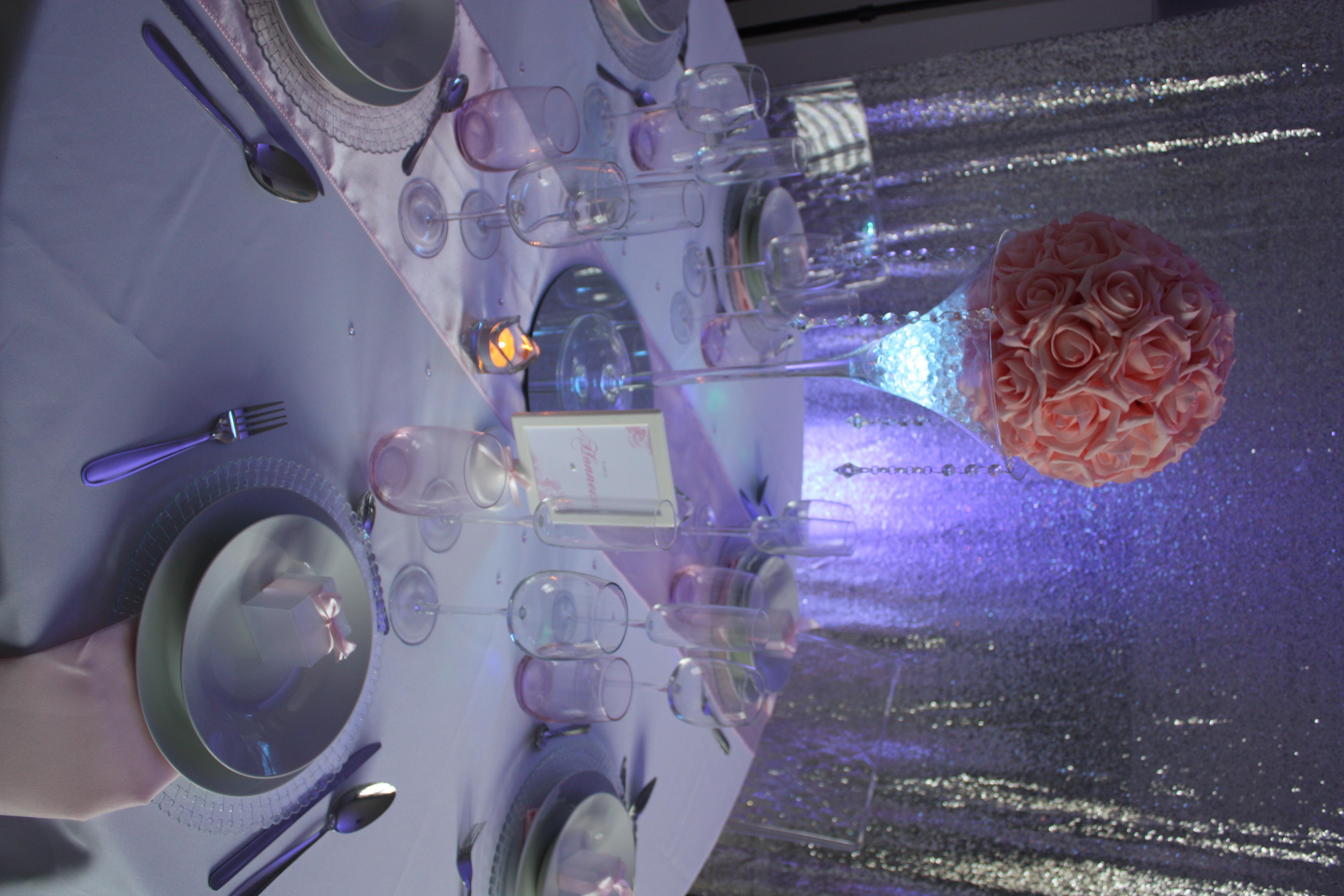 Table complète Romantique Rose