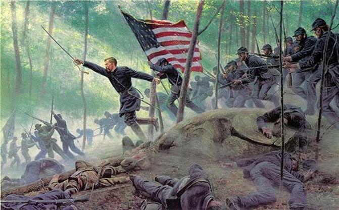 Gettysburg - Mort Kunstler Chamberlain Charge.jpeg