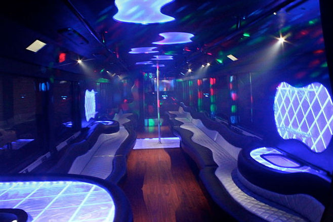 Picture of a Prom party bus from The Educator Podcast: Perspectives - Stories From My Life Education: Prom From Hell