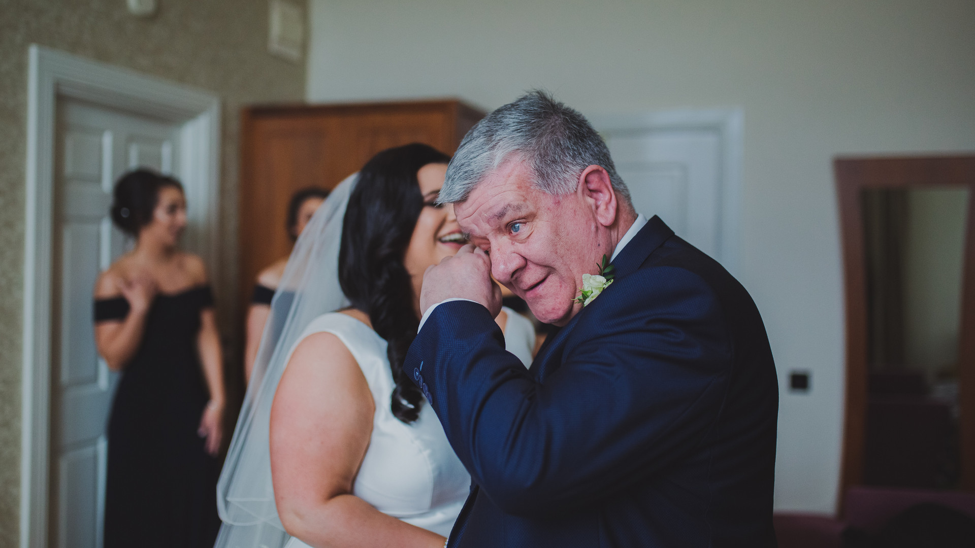 Emotional Father of The Bride | Slieve Donard Wedding | Living Witness Weddings