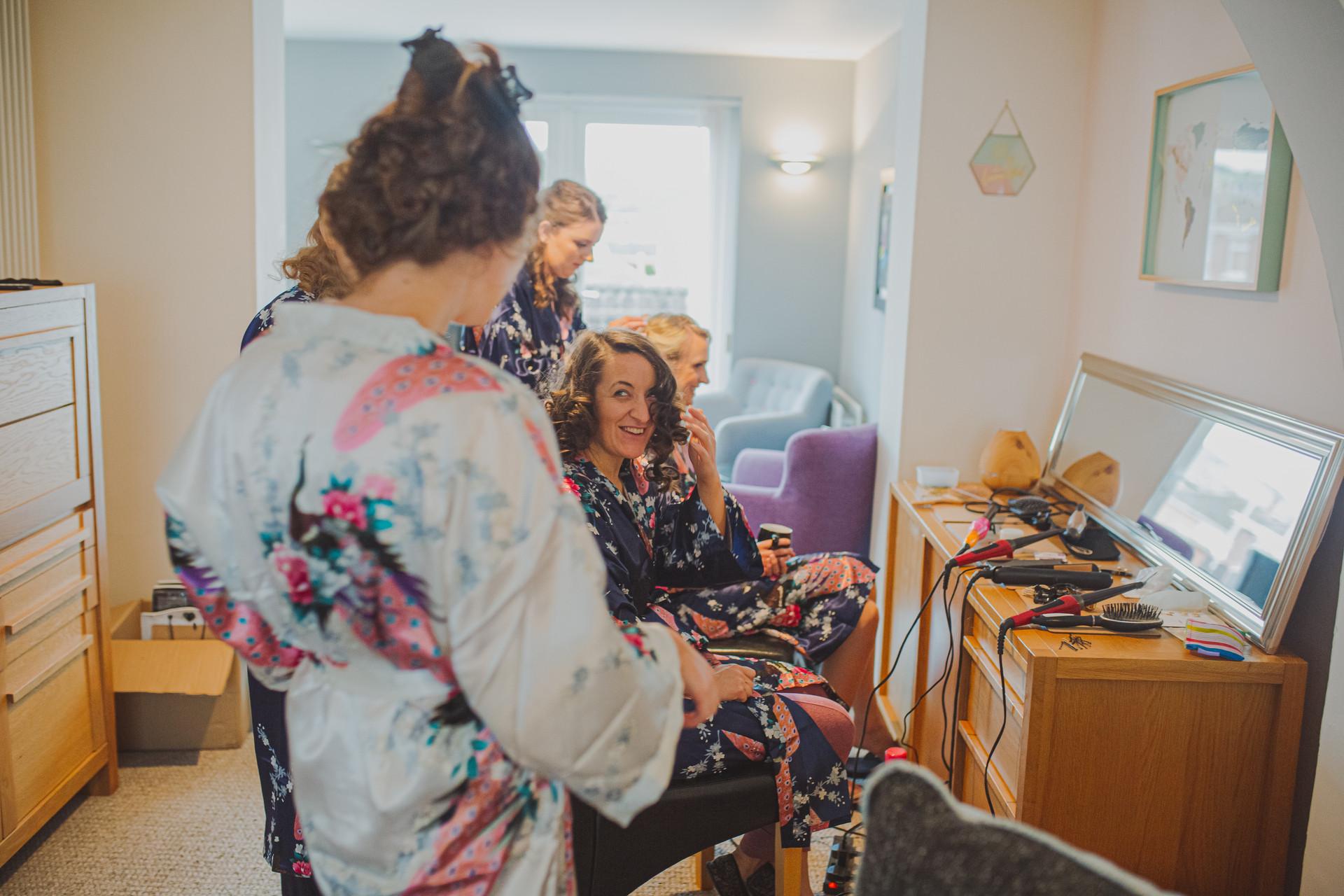 Wedding Morning Prep Photos | Boho Bride | Quirky Wedding | Living Witness Weddings