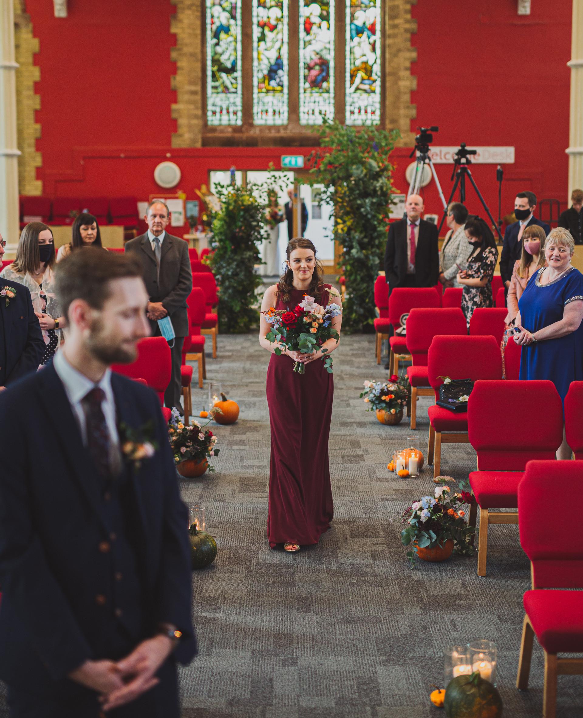 Church Wedding Decorations | Boho Bride | Quirky Wedding | Living Witness Weddings