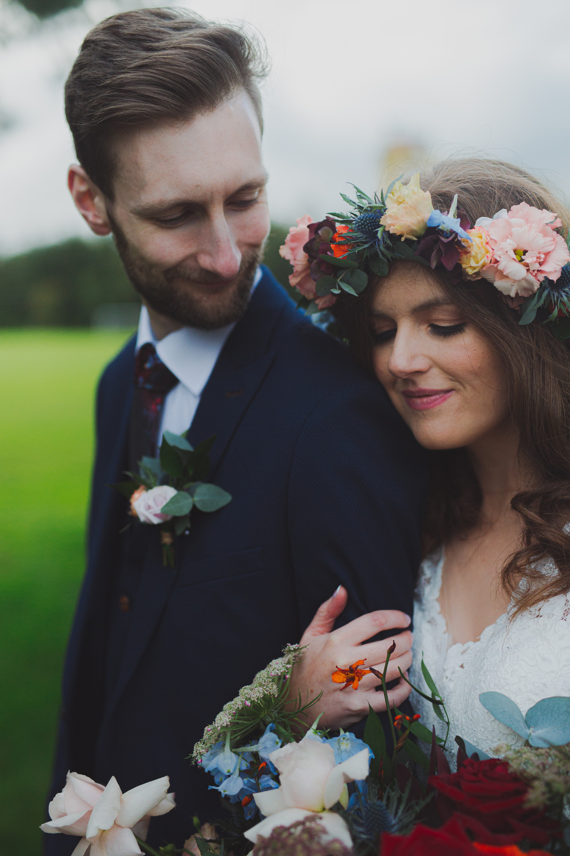 Harland & Wolff Wedding Photos | Boho Bride & Groom | Quirky Wedding | Living Witness Weddings