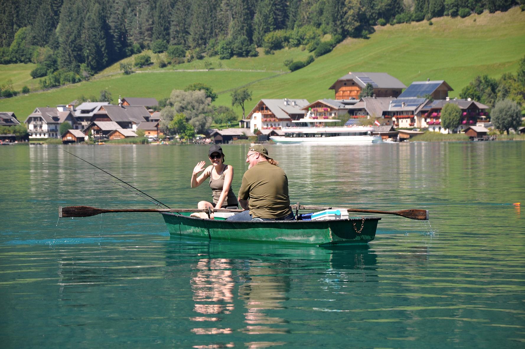 Chalets Zöhrer, Weißensee, fischen, ange