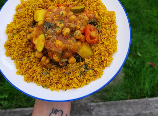 Chickpea, butterbean & vegetable curry