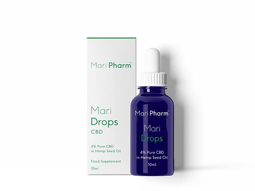 MariDrops - 4% (400mg) CBD in Hemp Seed Oil