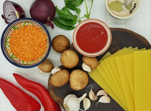 Lentil and vegetable lasagne