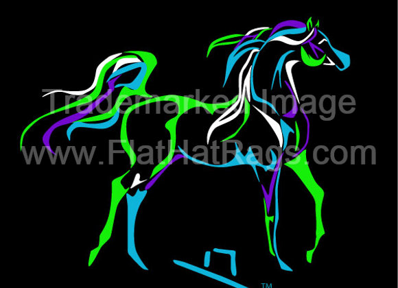 6 INCH TALL GRACEFUL ARAB DECAL 3 COLOR