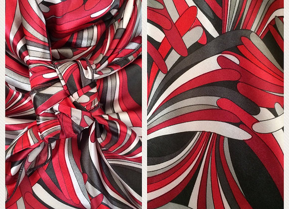 RED AND GREY ABSTRACT PRINT