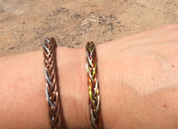 HAND BRAIDED WIRE BRACELET (Heavier Wire)