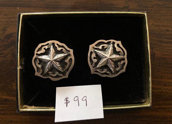 Sterling Silver Star Cut Out Earrings