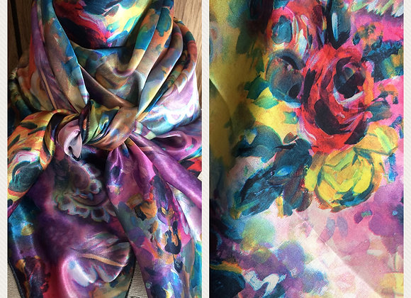 BRIGHT MULTICOLOR WITH ROSES FLORAL