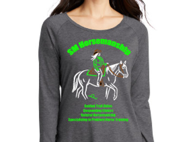 SM HORSEMANSHIP WOMENS LONG SLEEVE TEE WITH LOGO