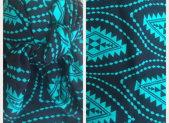 BLACK AND TEAL SOUTHWEST PRINT