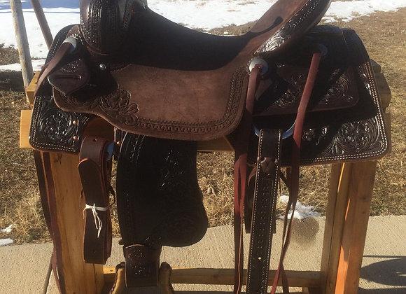 "16""Rico Saddlery Chocolate Ranch Cutter Saddle"