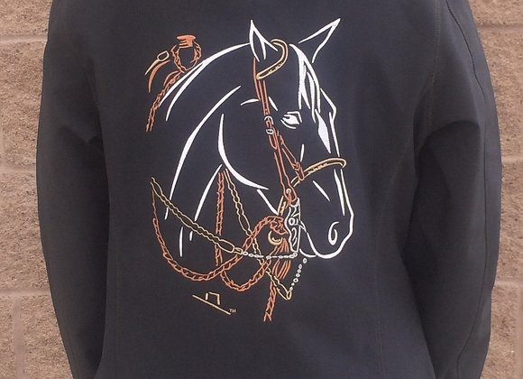 TWO REIN HORSE SOFTSHELL JACKET(MEN'S OR WOMEN'S)