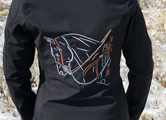 BRIDLE HORSE SOFTSHELL JACKET (MEN'S OR WOMEN'S OR YOUTH)