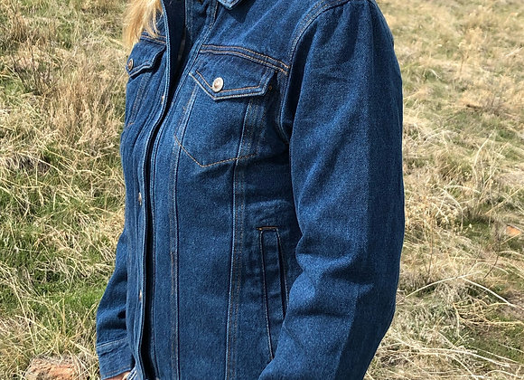 LADIES DENIM CONCEALED CARRY JACKET