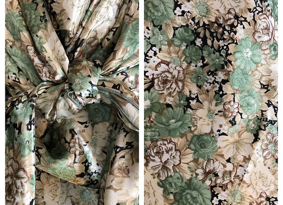 SAGE GREEN AND CREAM FLORAL