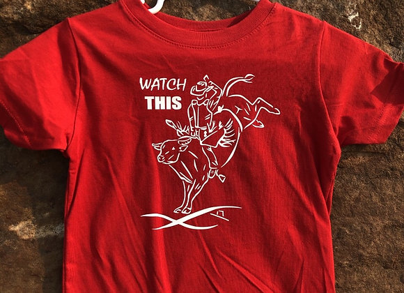 CLEARANCE SIZES TODDLER WATCH THIS BULL RIDER YOUTH TEE