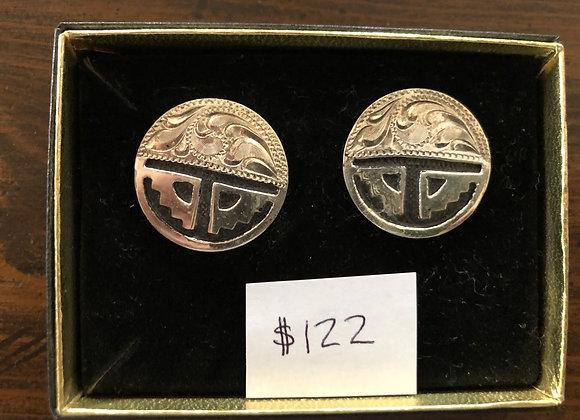 Sterling Silver half southwest Earrings