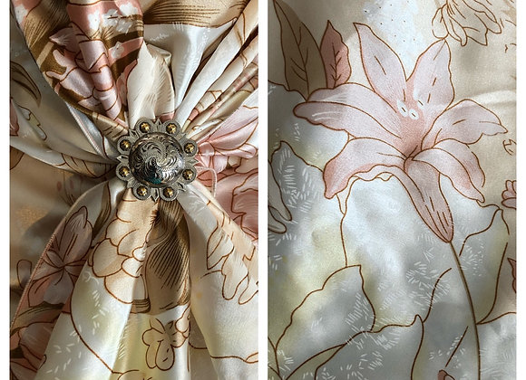 SOFT PINK AND CREAM LILY PRINT