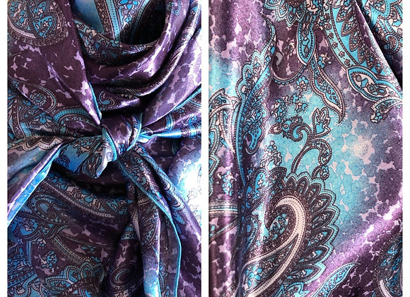 PURPLE AND AQUA PAISLEY