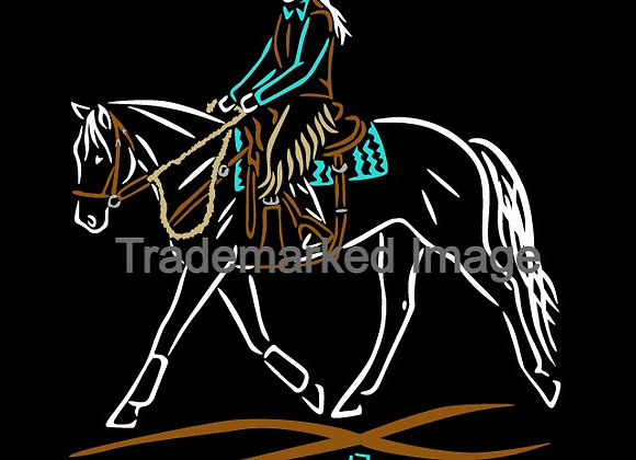 6 INCH TALL WESTERN DRESSAGE DECAL 3 COLOR