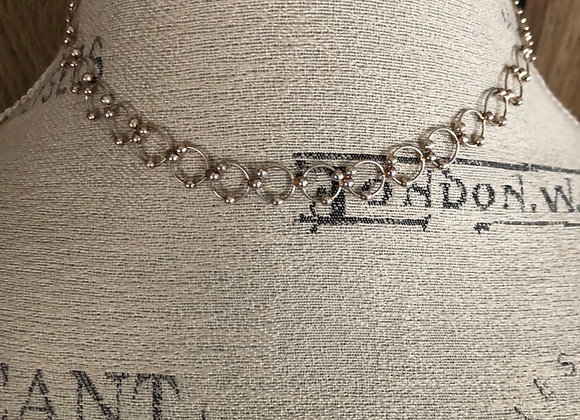 Sterling Silver Loop Choker Necklace