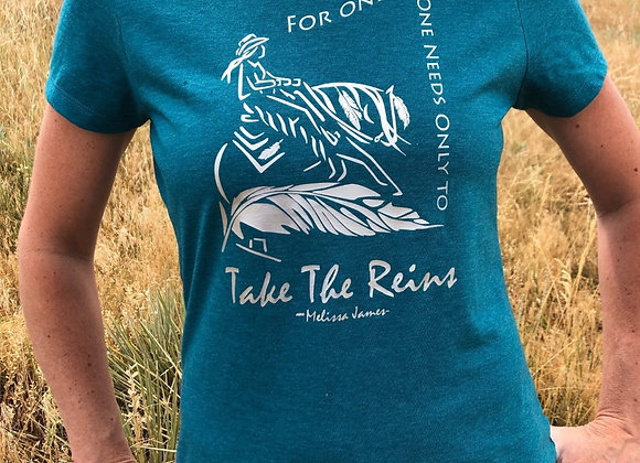 "WOMEN'S ""TAKE THE REINS"" REINER TEE"