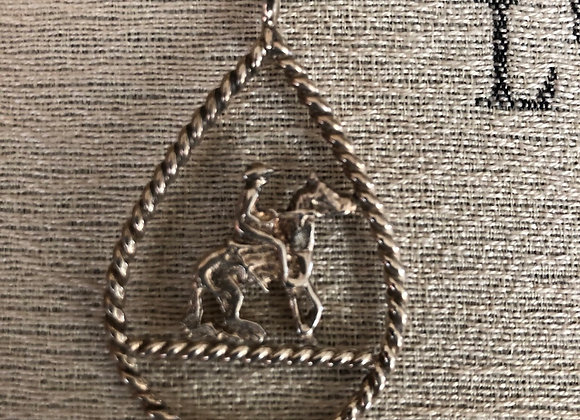 Reining Horse Sterling Silver Necklace