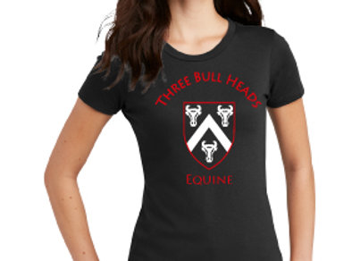 BLACK TEE WITH LOGO ON FRONT - WOMEN'S, MENS'S OR YOUTH SIZE