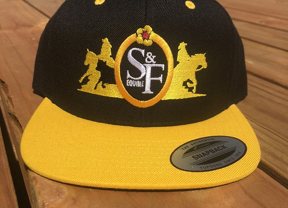 SMITH & FLAVIN EQUINE LOGO FLAT BILL HATS