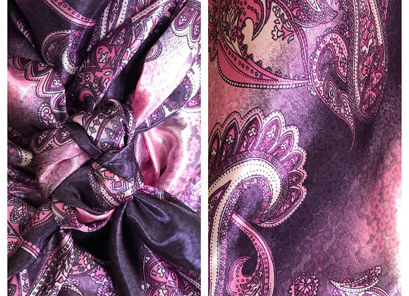 PURPLE WITH PINK PAISLEY