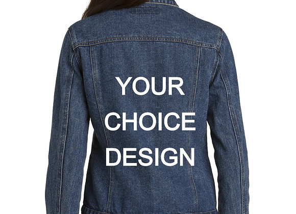 DENIM JACKET WITH YOUR CHOICE DESIGN ON BACK