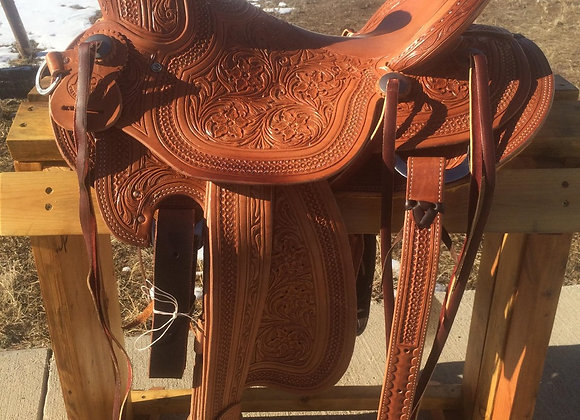 """16"""" Rico Saddlery Wade with Full Floral Tooling"""
