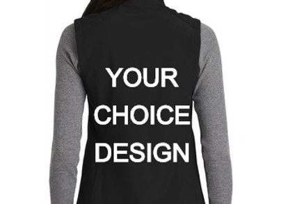 DESIGN YOUR OWN EMBROIDERED SOFTSHELL VEST