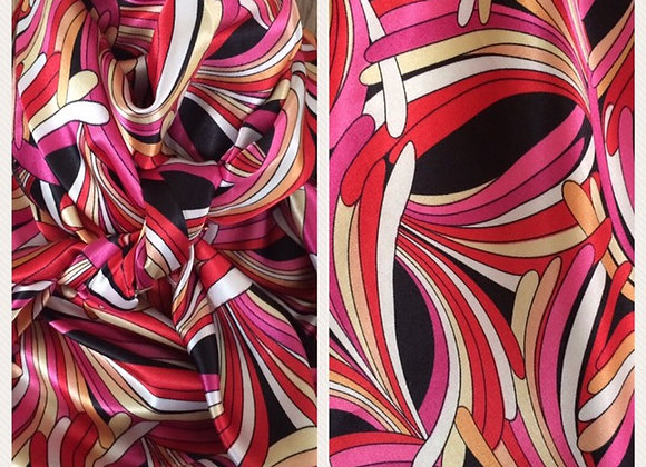 PINK, RED AND PEACH ABSTRACT PRINT