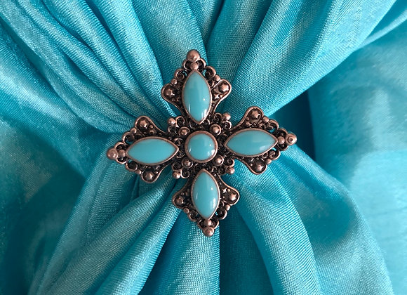 Small Turquoise cross slide