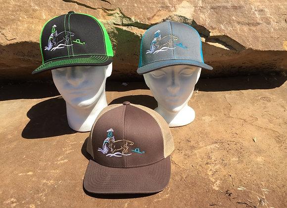 MEN/WOMEN'S COWHORSE TRUCKER CAP