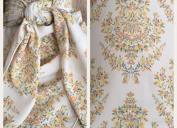 CREAM WITH SMALL ORANGE AND YELLOW FLORAL