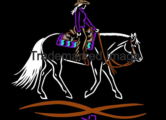 6 INCH TALL WESTERN PLEASURE DECAL 3 COLOR