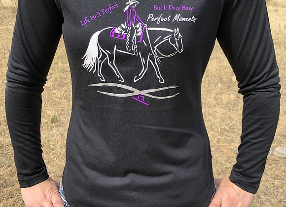 WESTERN PLEASURE LONG SLEEVE TEE WITH 3 COLOR DESIGN