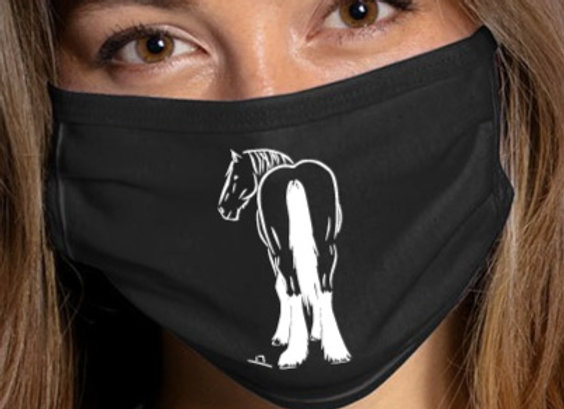 CLYDESDALE BUTT FACE MASK